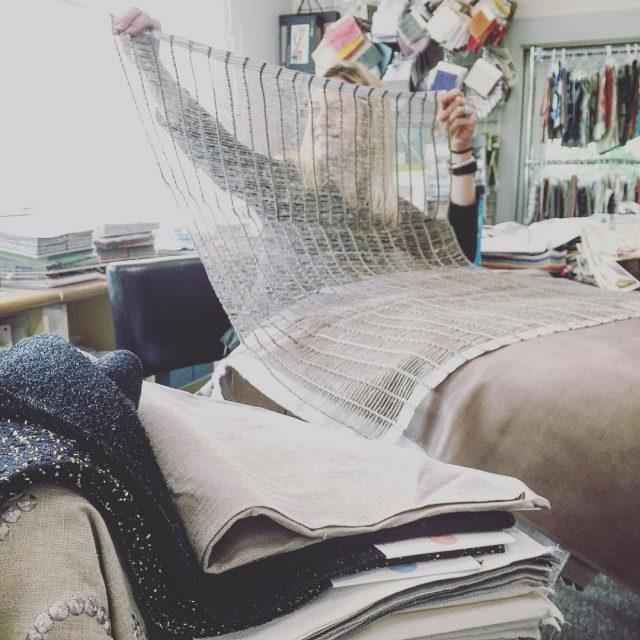Designer courtneysaulnier dreaming up possibilities for this new hillbrownfabrics openweavehellip