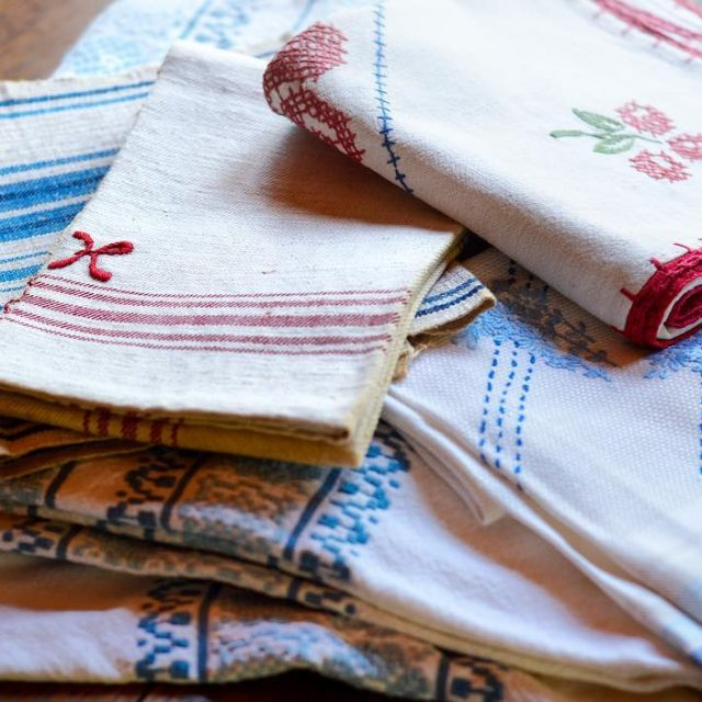 Red white and blue handmade textiles brought to Chicago byhellip