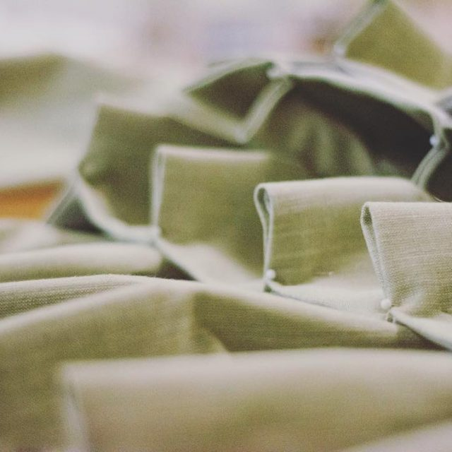 Today in the workroom lichen linen drapes drapes pleats onthetablehellip